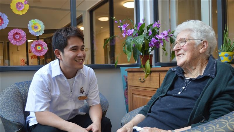 Proud to work in aged care
